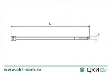 Стяжка кабельная черная UV-стойкая